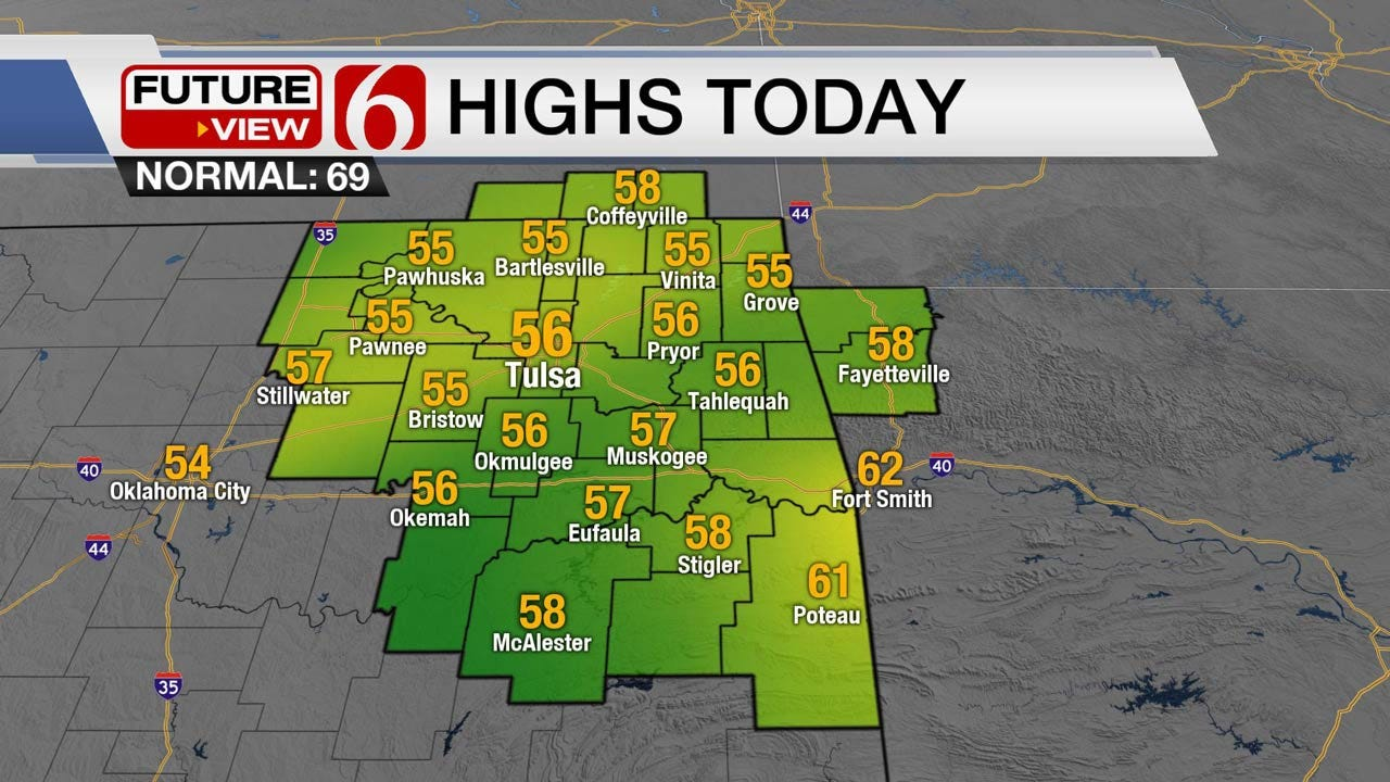 Wet, Chilly Halloween Forecast For Eastern Oklahoma