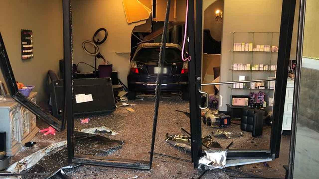 Car Crashes Into Claremore Salon