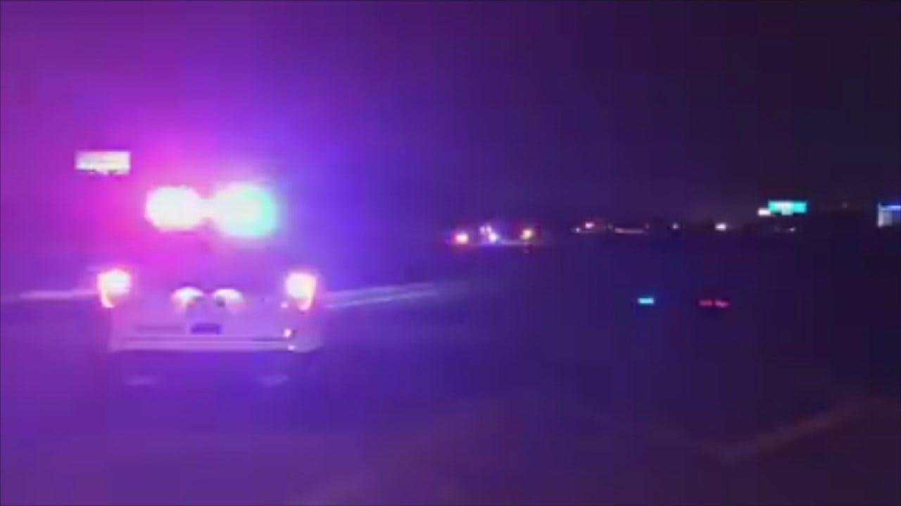 Man Arrested After Crashing Stolen Motorcycle On Tulsa Highway