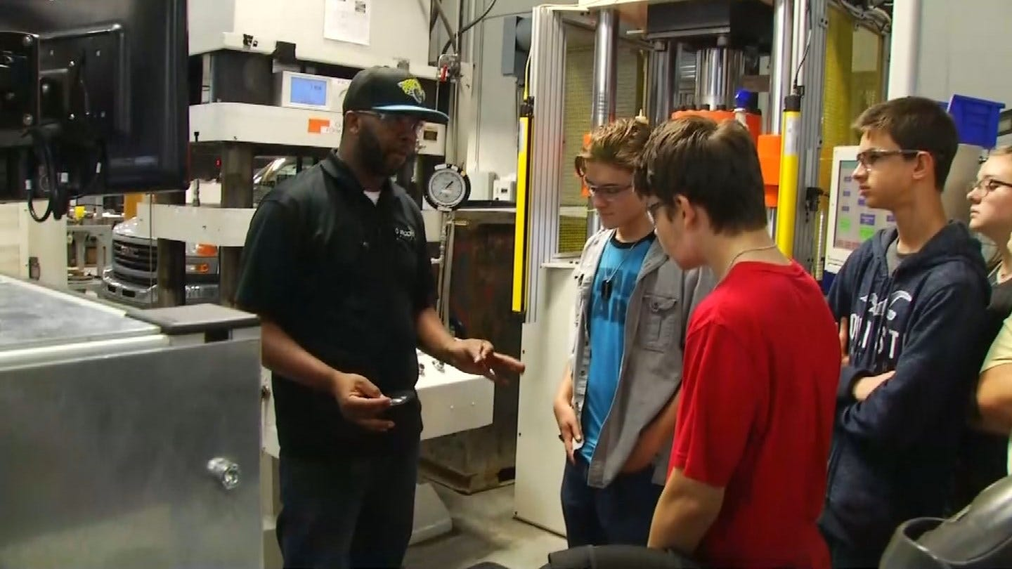 Oklahoma Students Learn Benefits Of Factory Jobs