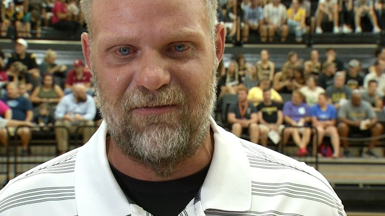Prayer Rally Held For Sand Springs Coach Who's Fighting Cancer