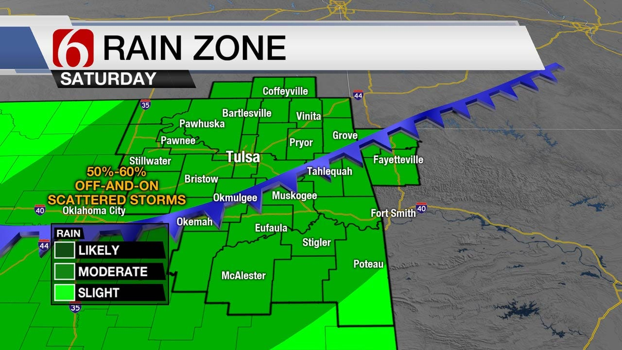 Cold Front Bringing Cooler Temps, Rain To Northeast Oklahoma