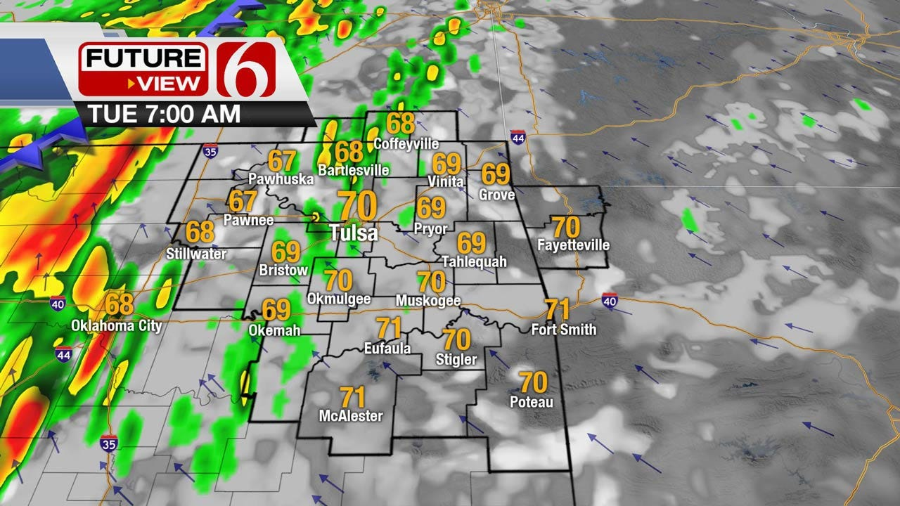 Cold Front To Push Across Oklahoma Tuesday