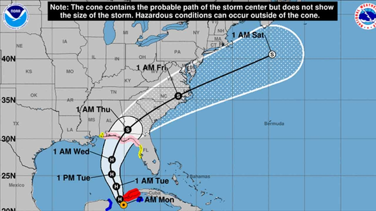 Michael Becomes Hurricane, Could Hit Florida Panhandle As Category 2 Storm