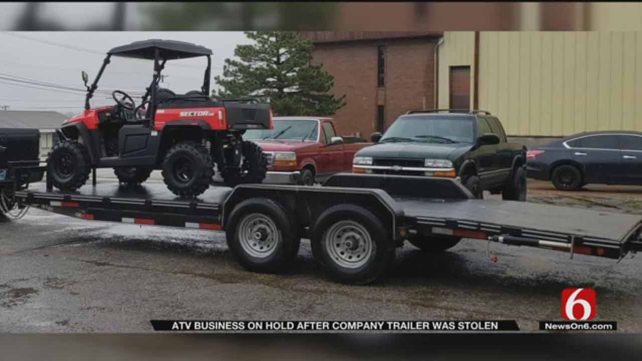 Sand Springs Man Loses Trailer To Thief