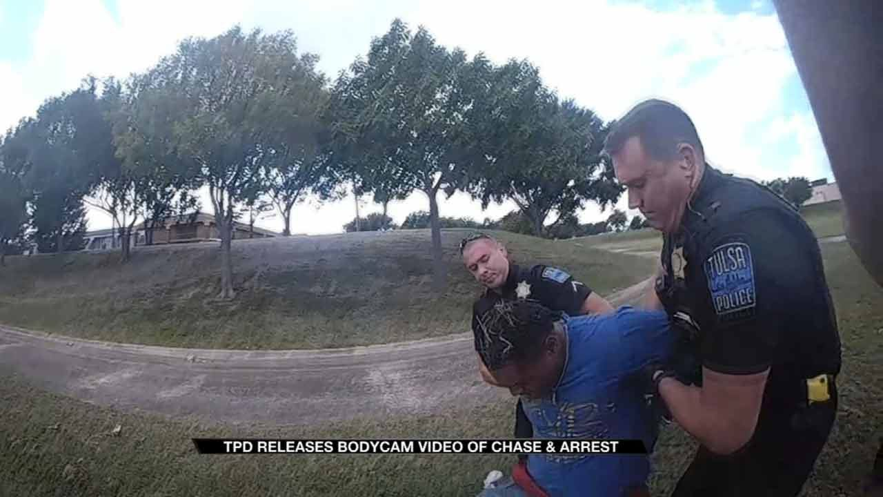 Tulsa Police Body Cam Video Shows Chase, Arrest