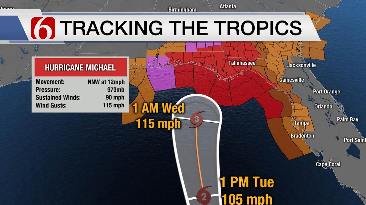 Category 2 Hurricane Michael Eyeing Florida's Gulf Coast