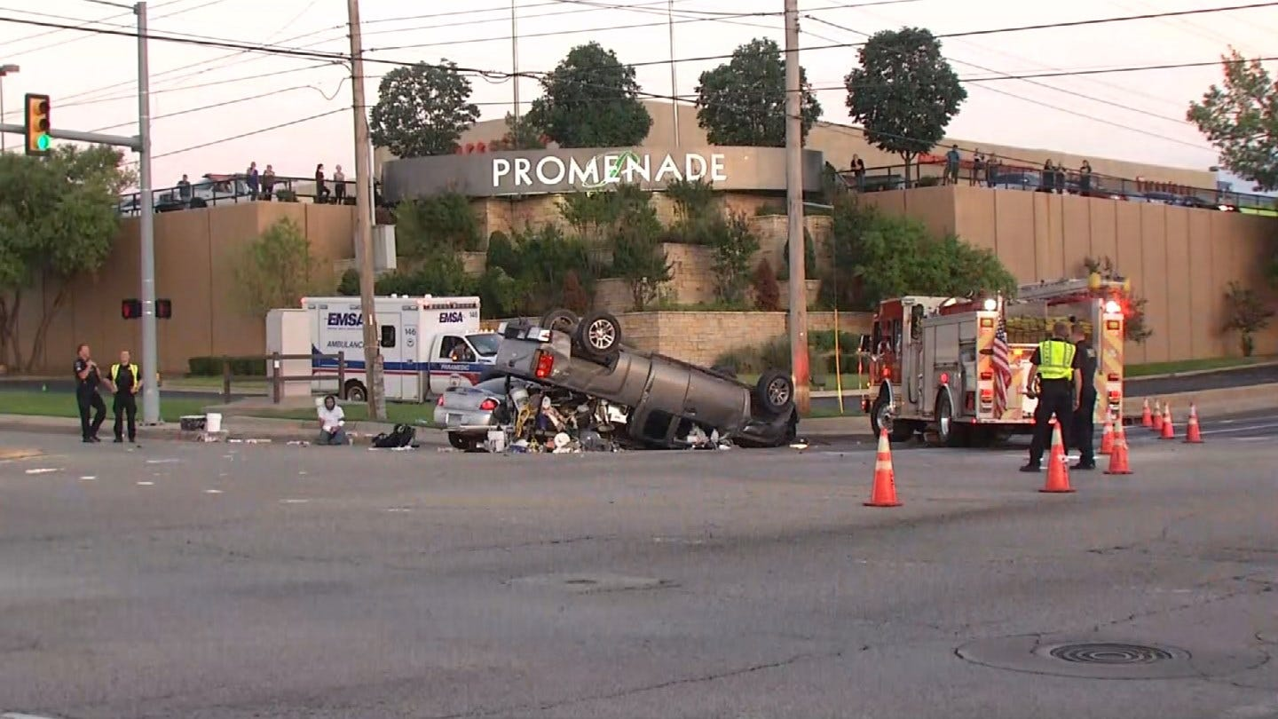 Two Dead After Crash In Midtown Tulsa