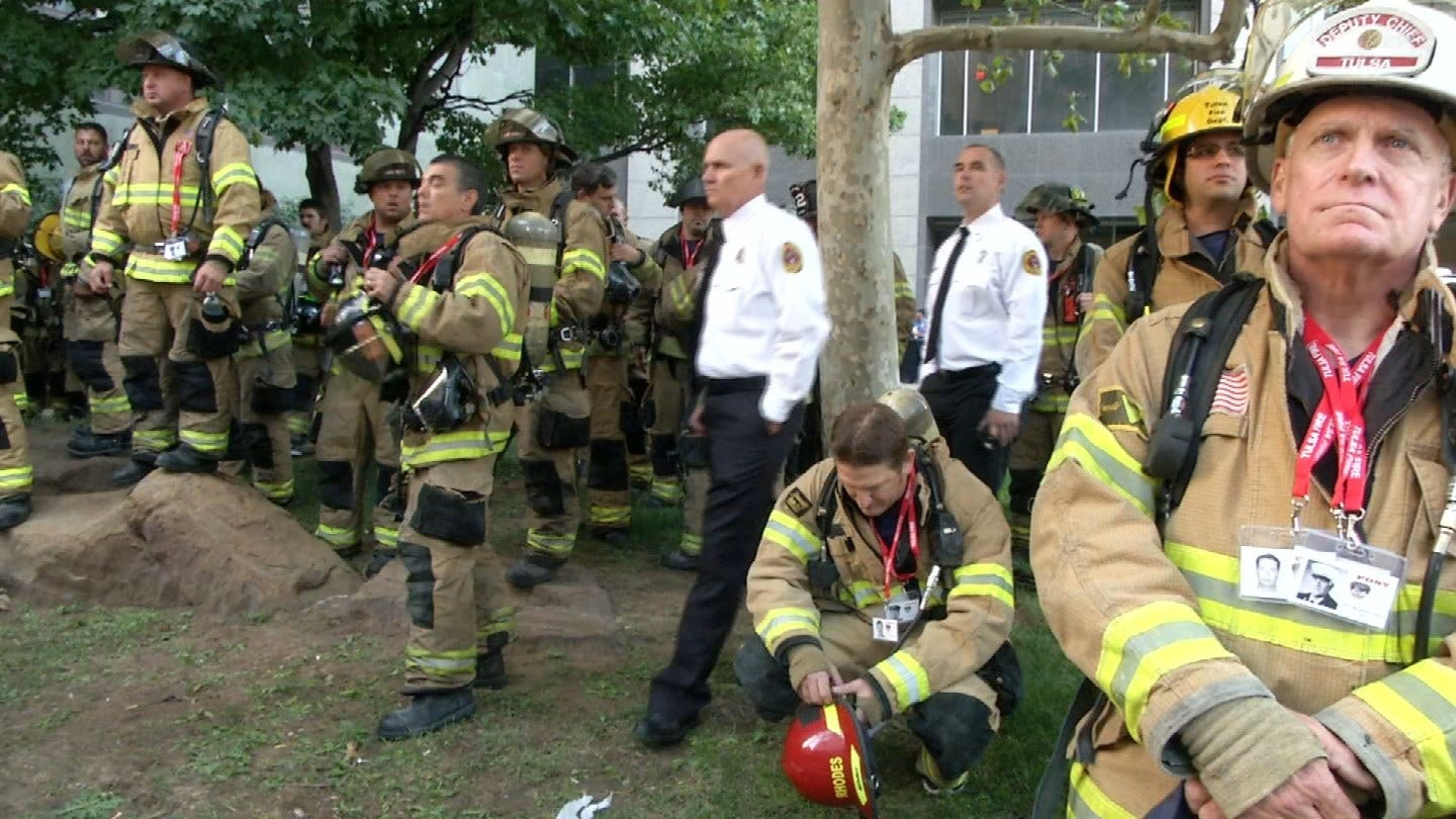 Oklahoma First Responders Honor 9/11 Victims With Stair Climb