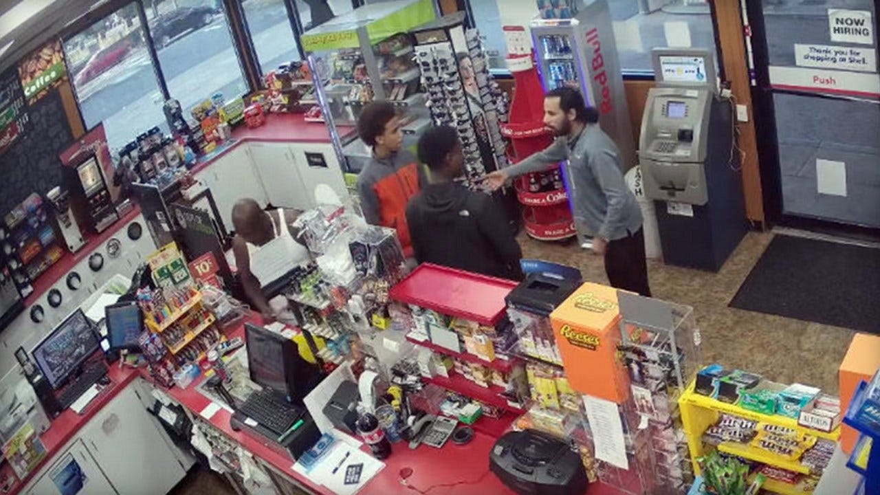 Video Shows Teens Robbing Gas Station After Clerk Collapses