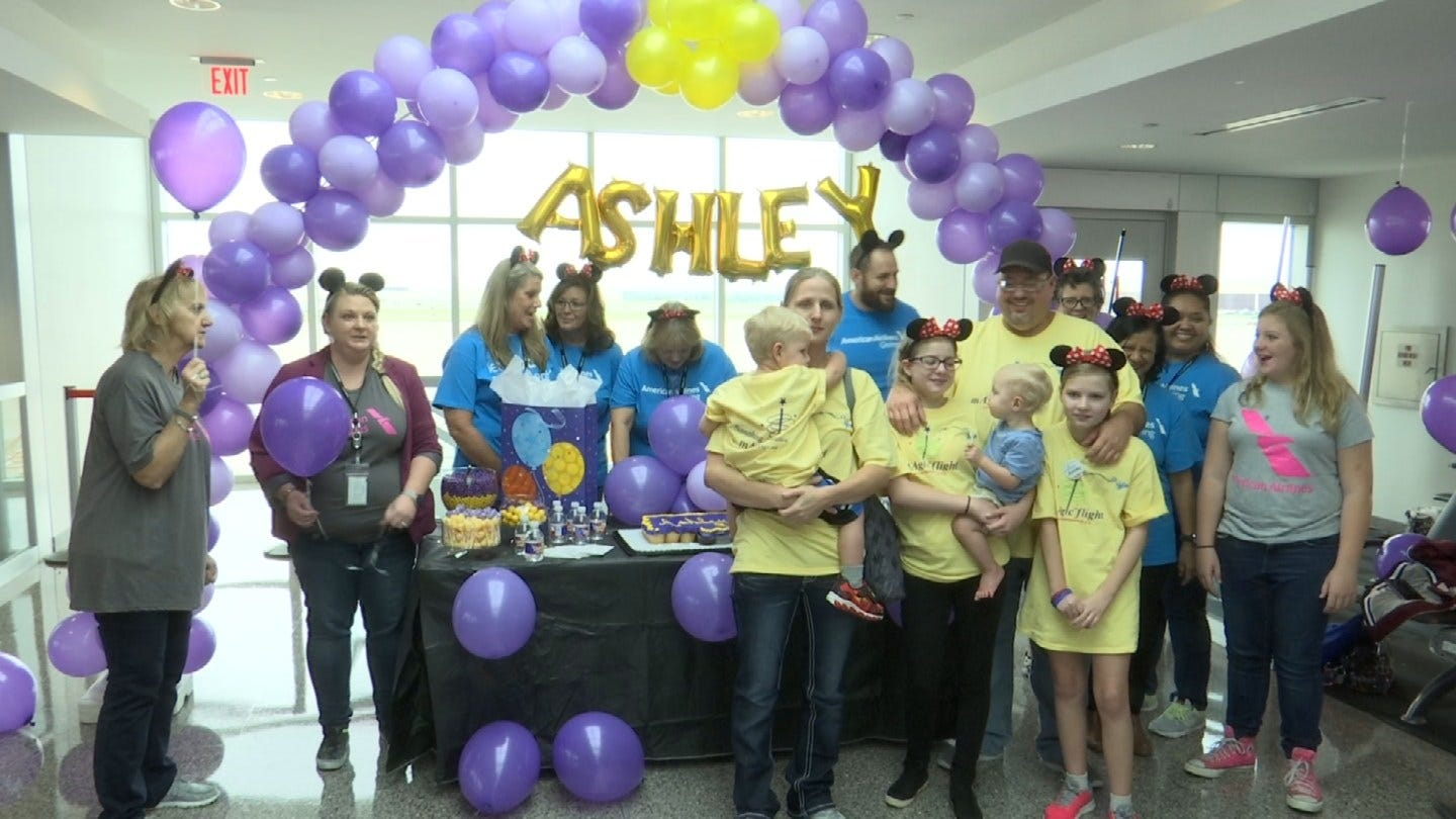 American Airlines Helps Little Girl's Disney World Wish Come True