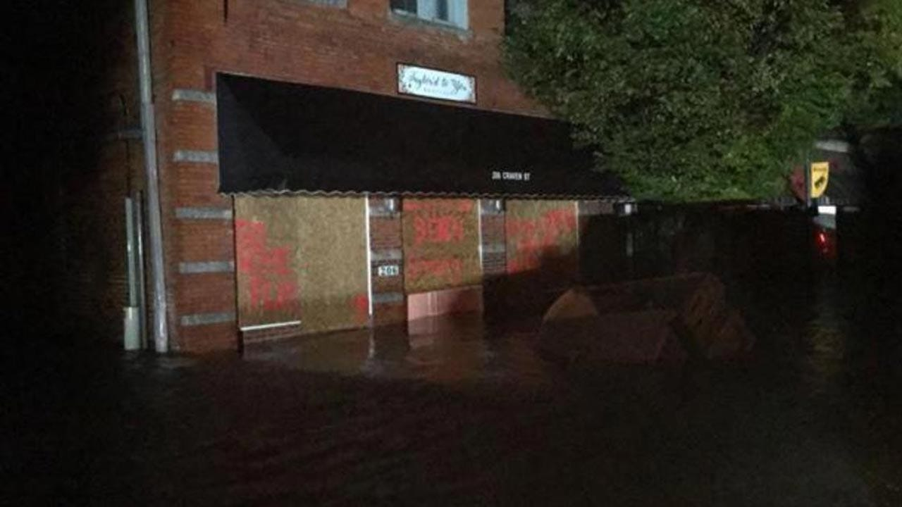 Hurricane Florence Storm Surge Leaves 100 New Bern, NC Residents Stranded