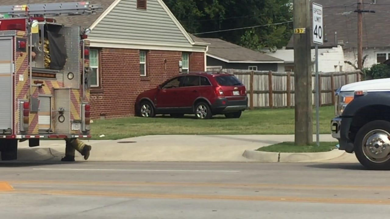 Driver Taken To Hospital After Her SUV Hits Tulsa Home