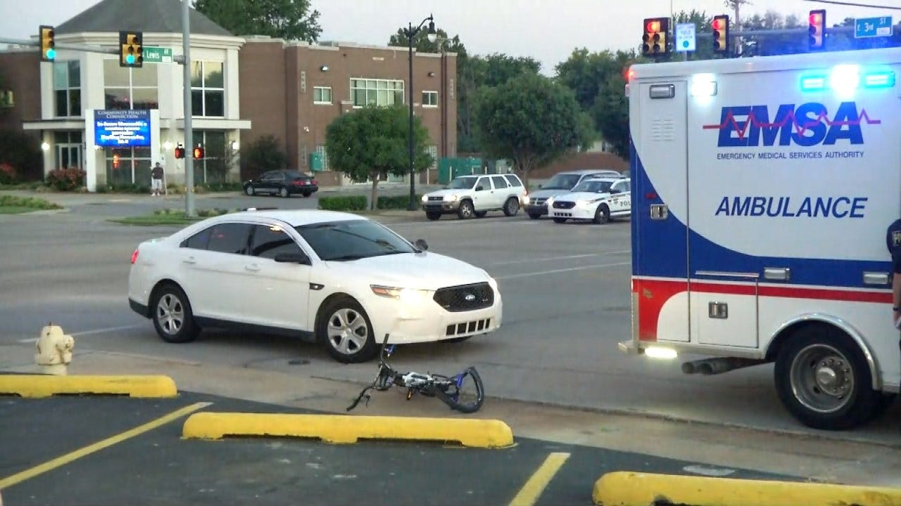 Tulsa Police: Boy Expected To Be OK After Pickup Hits His Bicycle