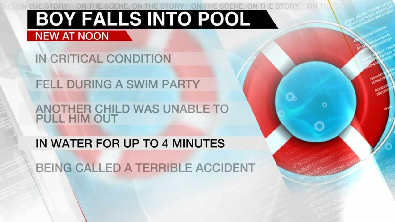 Boy Critical After Falling Into Owasso Pool
