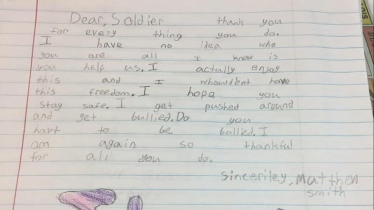 Letter Unites Oklahoma Soldier With 'Child,' 10 Years Later