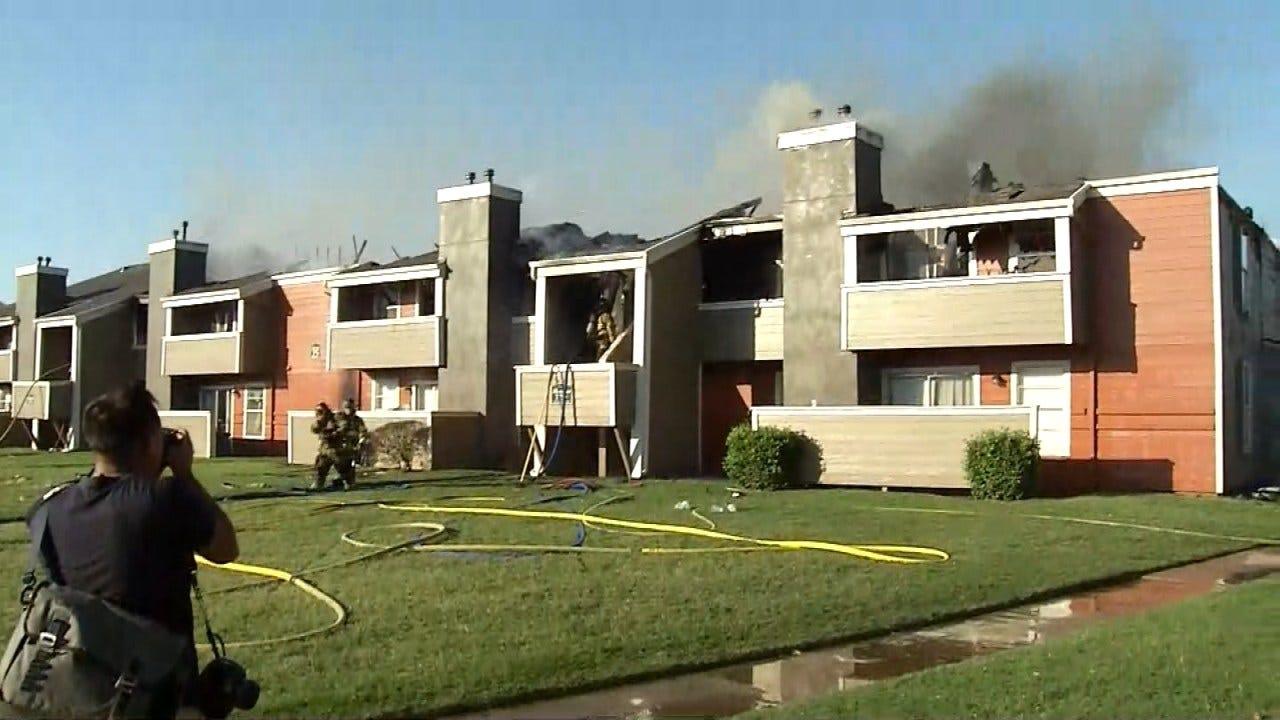 Fire Destroys 16 Units At Tulsa Apartment Complex