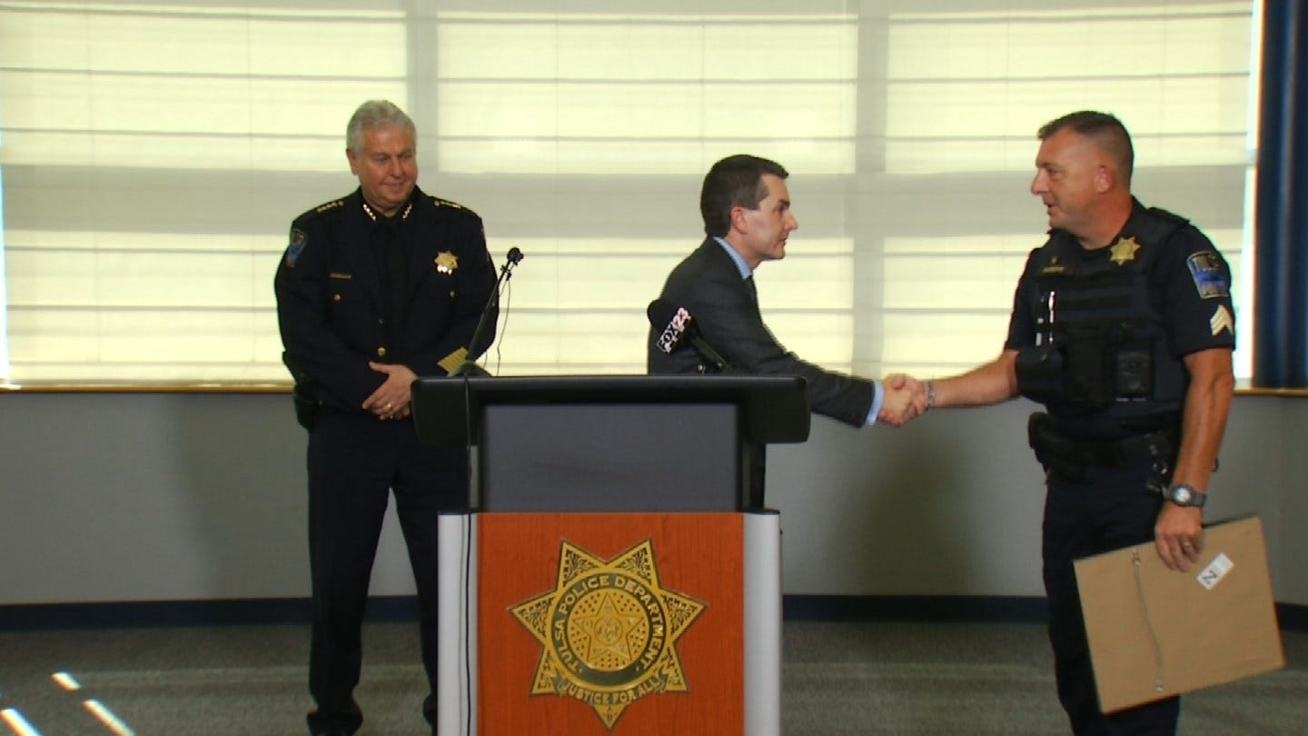Tulsa Police Officer Honored After Being Shot By Suspect