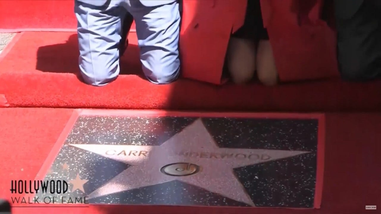 Carrie Underwood Gets Star On Hollywood Walk Of Fame