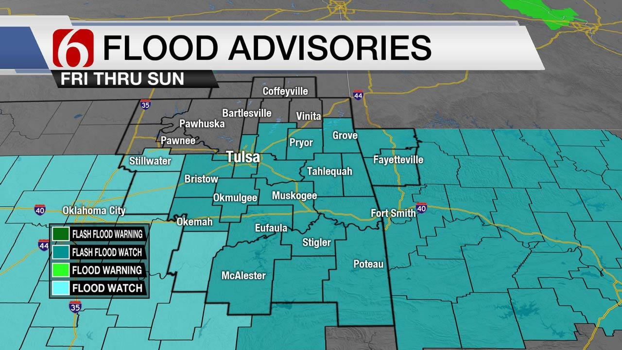 Flash Flood Watch For Much Of Oklahoma Friday