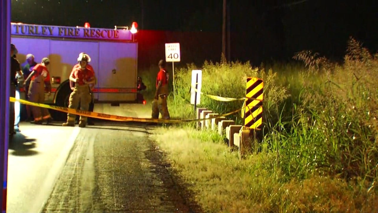 Man Found Dead After Apparent Car Crash On Tulsa County Road