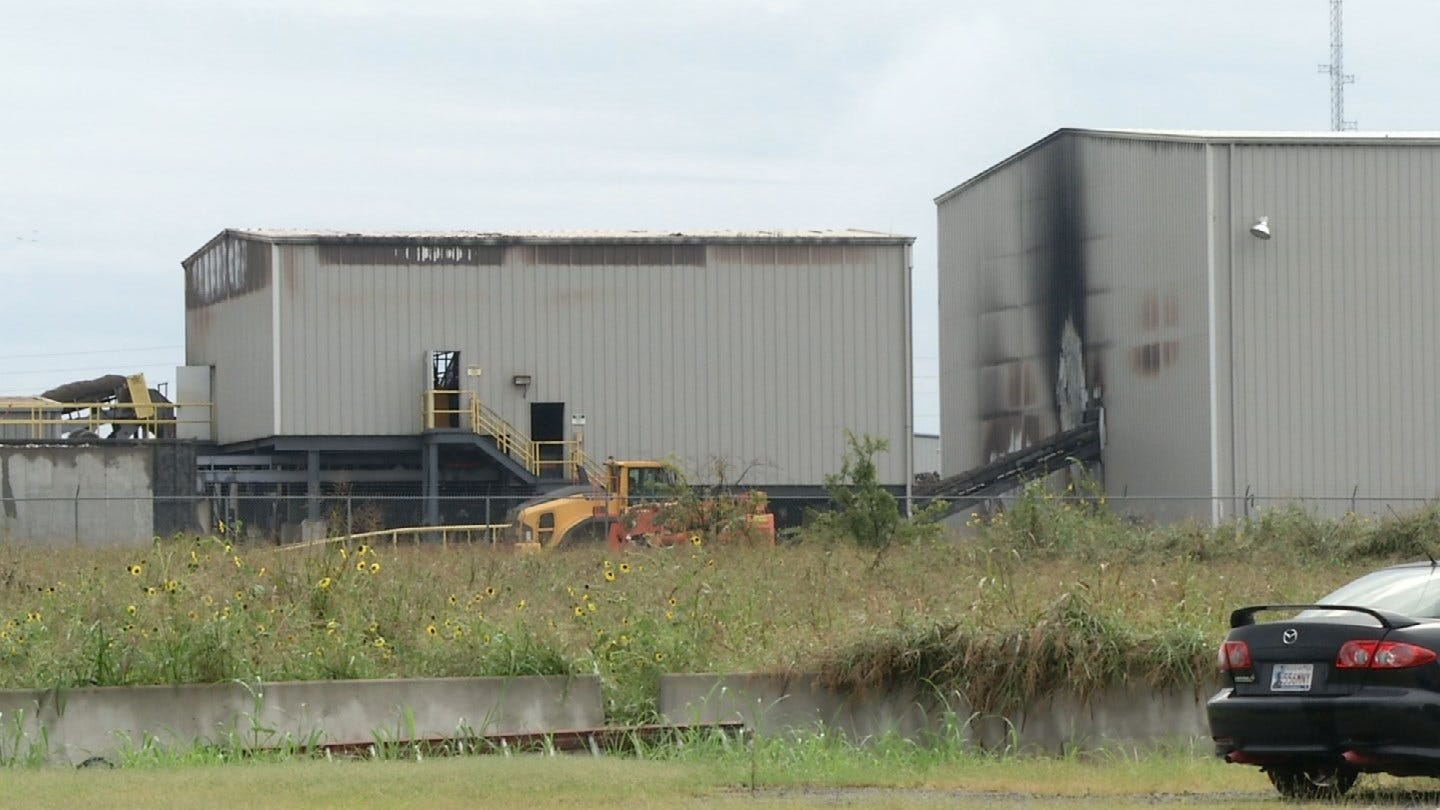 No Injuries After Recycling Center Fire In Catoosa