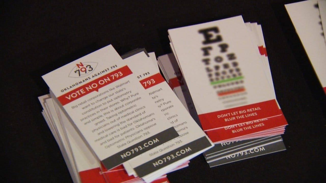 Oklahoma Eye Care Professionals Push For 'No' Vote On SQ # 793