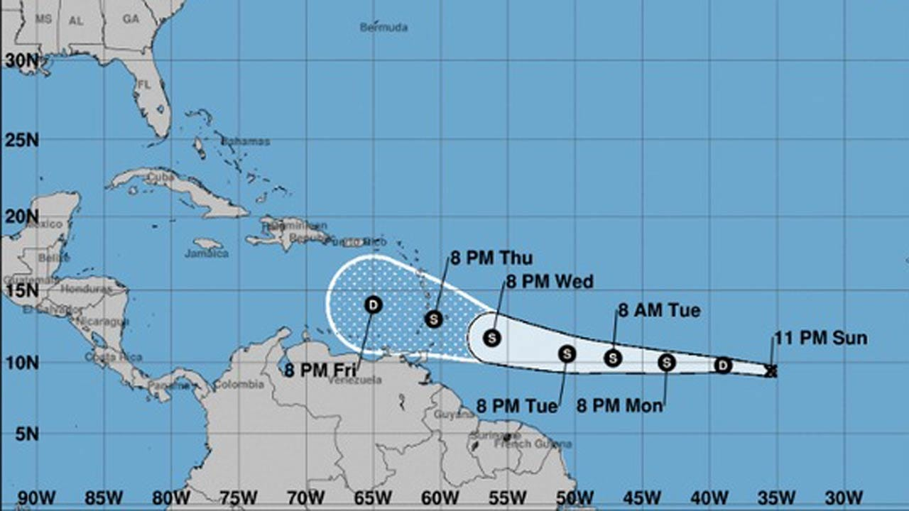 Kirk Turns Into Tropical Depression, Continues Move Westward Across Atlantic