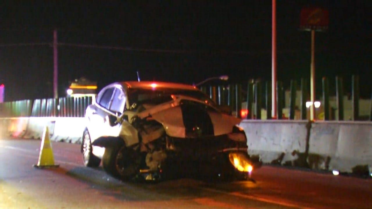 Sand Springs Highway Chase Ends With Crash, Arrests
