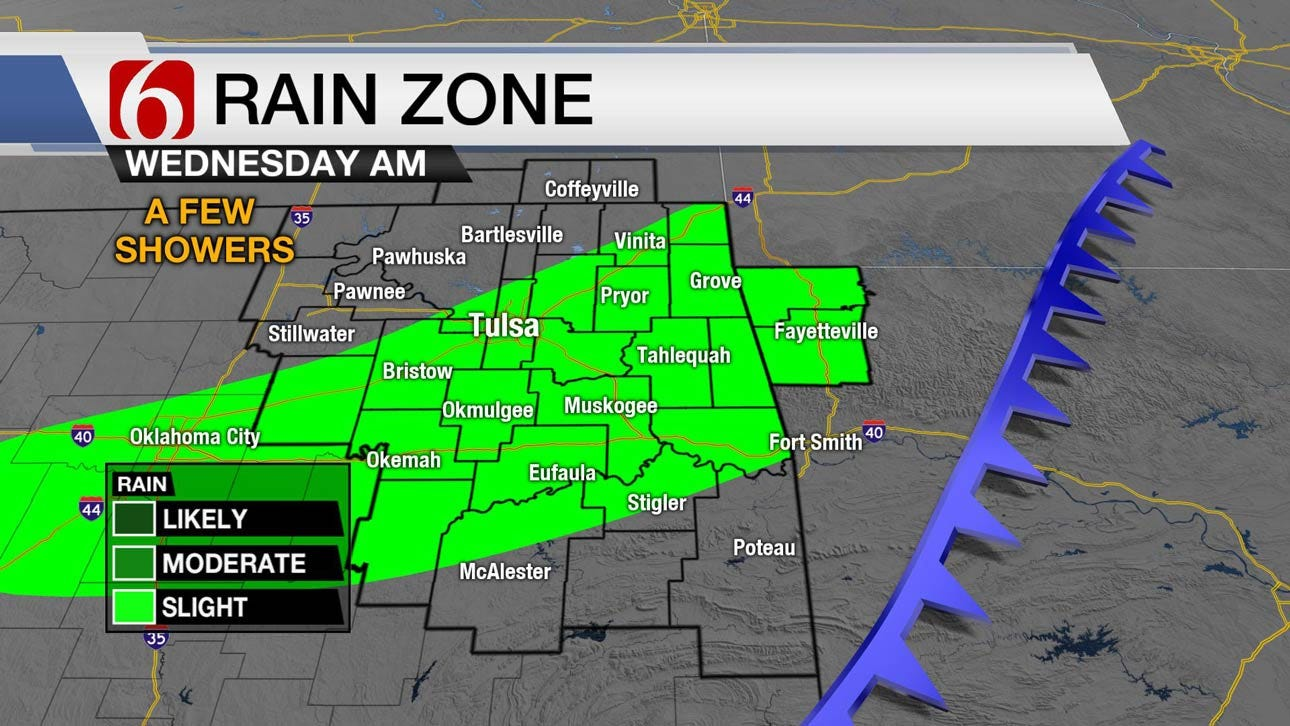 Fall Front Set To Move Into Eastern Oklahoma Tuesday