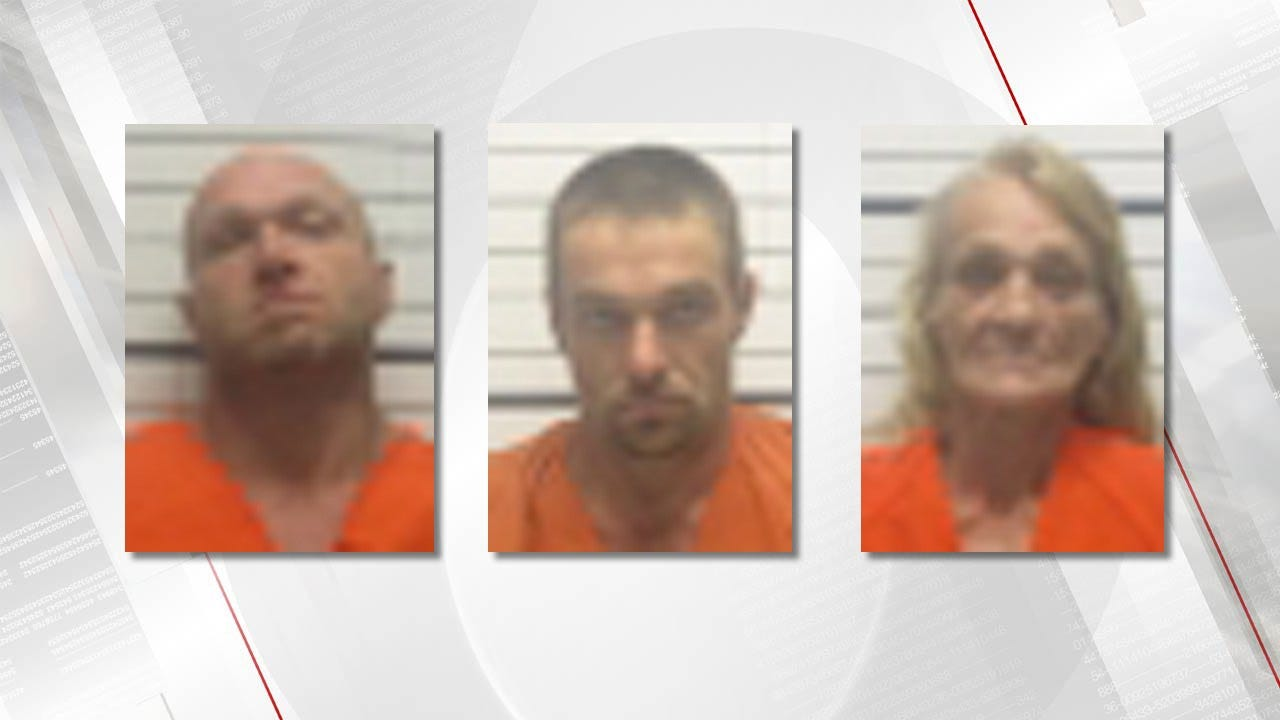 Wanted Man Arrested In Creek County, Two Others Also Arrested