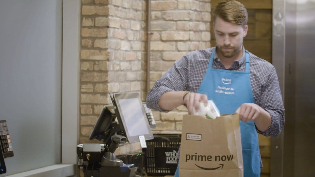 Amazon Begins Home Grocery Delivery From Tulsa's 2 Whole Foods Markets