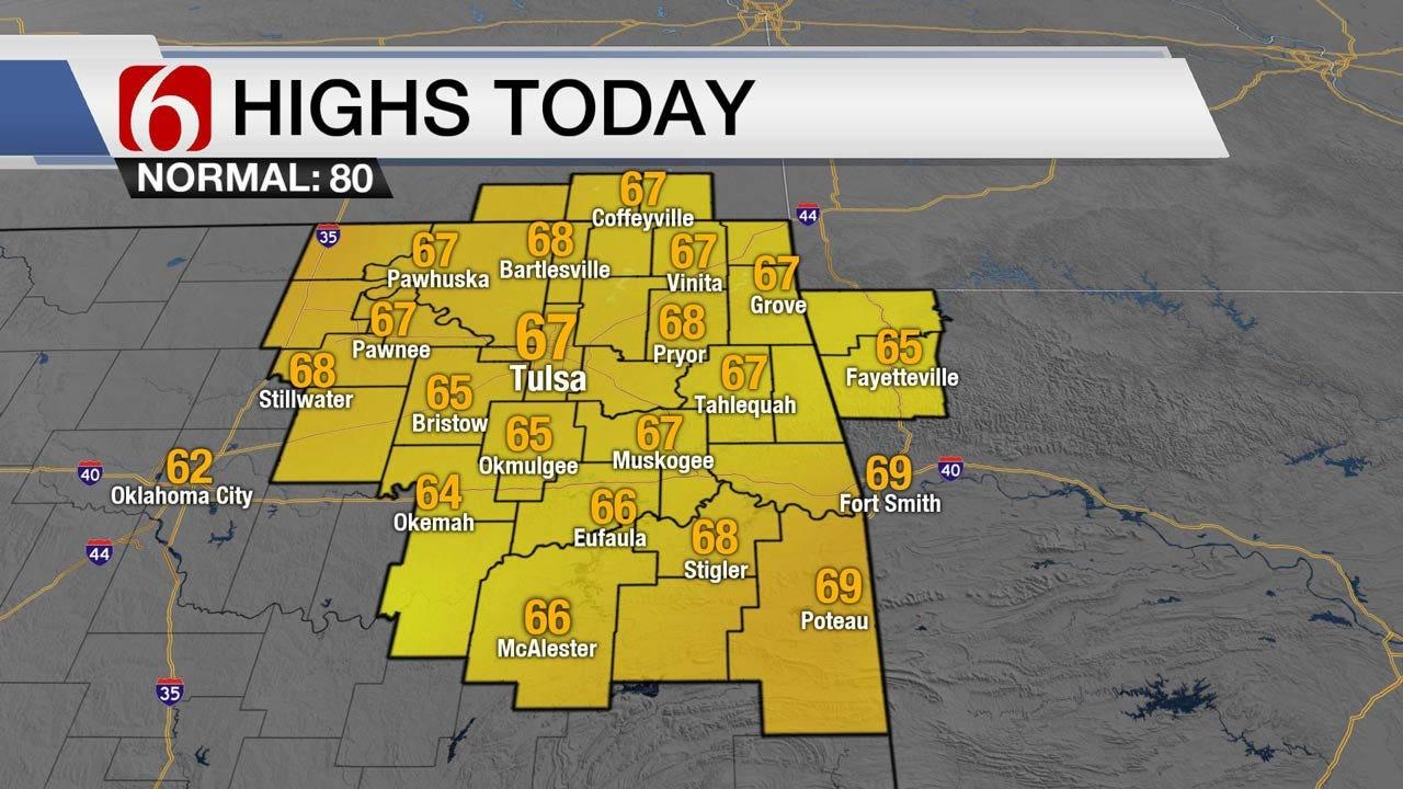Back To Fall Weather Wednesday Across Eastern Oklahoma