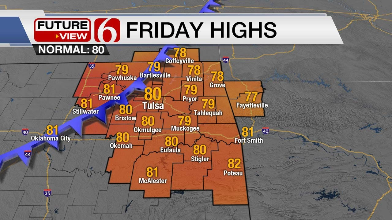 Five Star Weather Day For Eastern Oklahoma