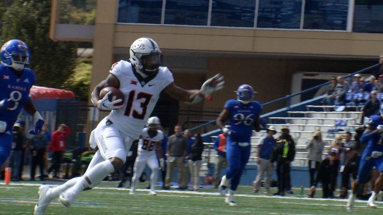 Cornelius Tosses 4 TDs, Leads OSU Past Kansas 48-28