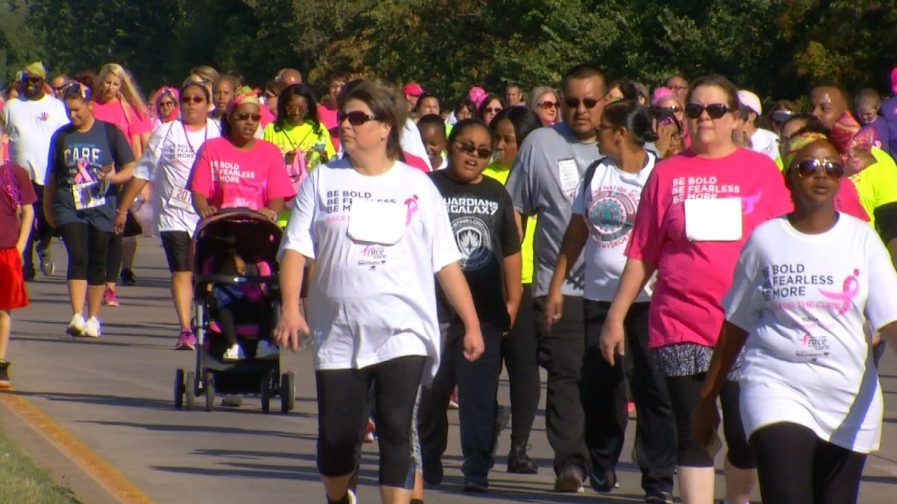Thousands Turn Out For Tulsa's Komen Race For The Cure