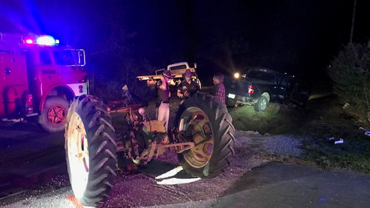 Pickup Collides With Tractor In Tulsa County, Driver Flown To Hospital