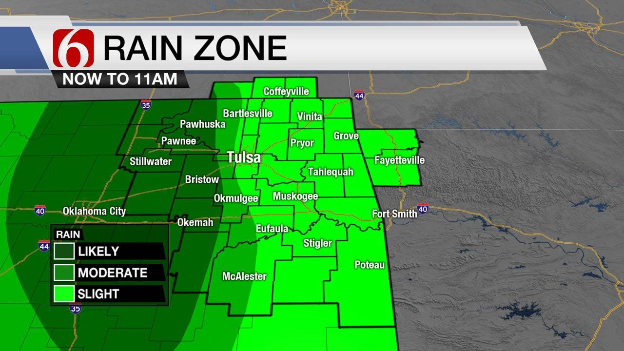Showers Redeveloping Across Eastern Oklahoma