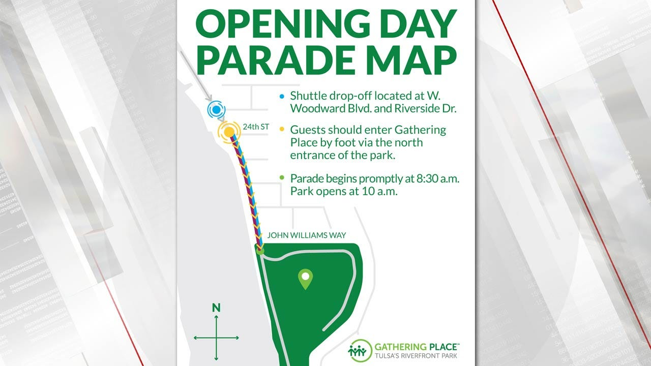 Where To Park For Opening Day At Tulsa's Gathering Place