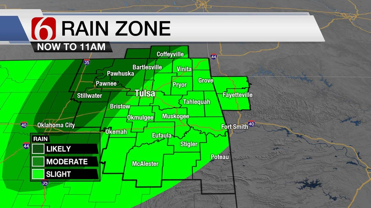 Tracking More Rain Today Across Eastern Oklahoma