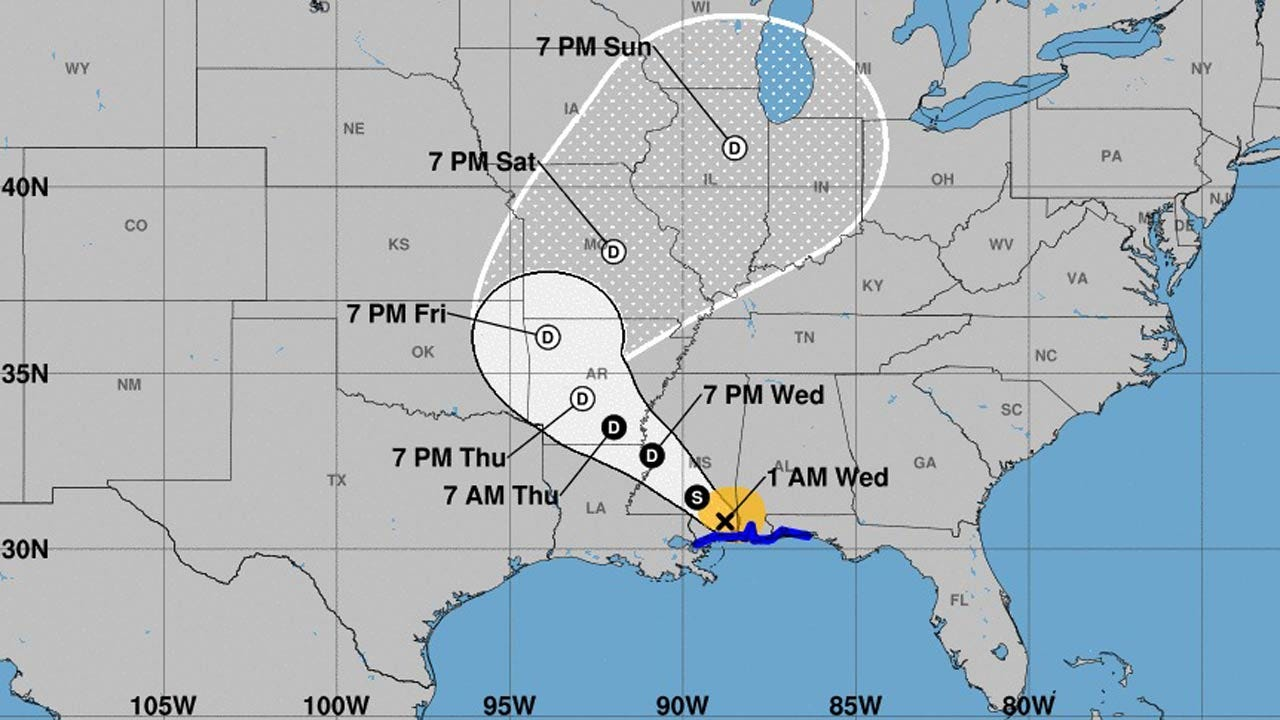 Tropical Storm Gordon Makes Landfall Near Alabama-Mississippi Border