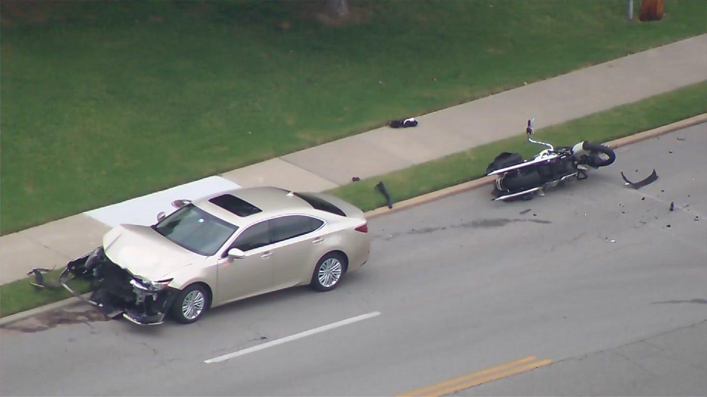 Two People Injured When Car Strikes Motorcycle In Midtown Tulsa