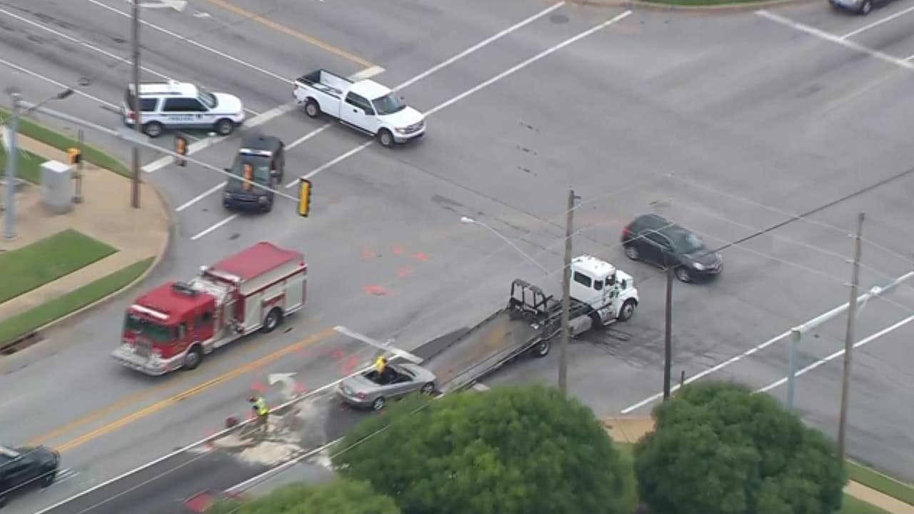1 Critical After 5-Car Crash In Broken Arrow