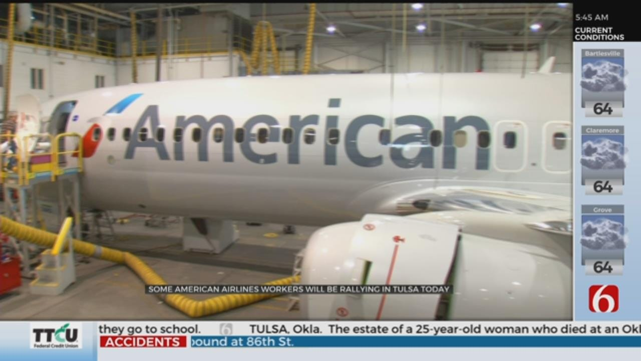 Tulsa American Airlines Workers Protest Outsourcing