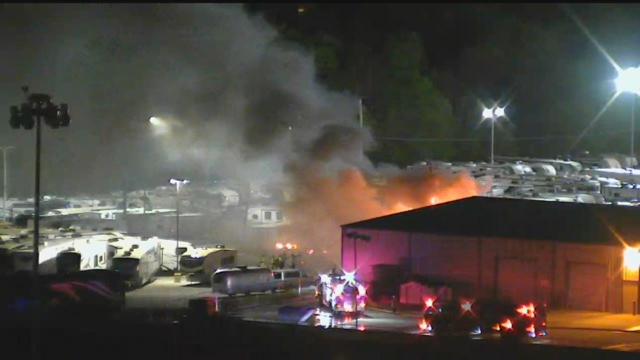 Fire Damages Multiple RVs At Tulsa Dealership