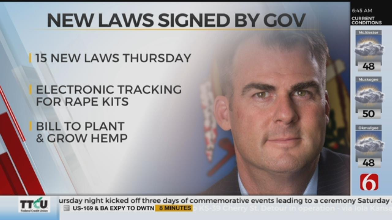 Governor Stitt Signed Almost 100 Bills Into Law