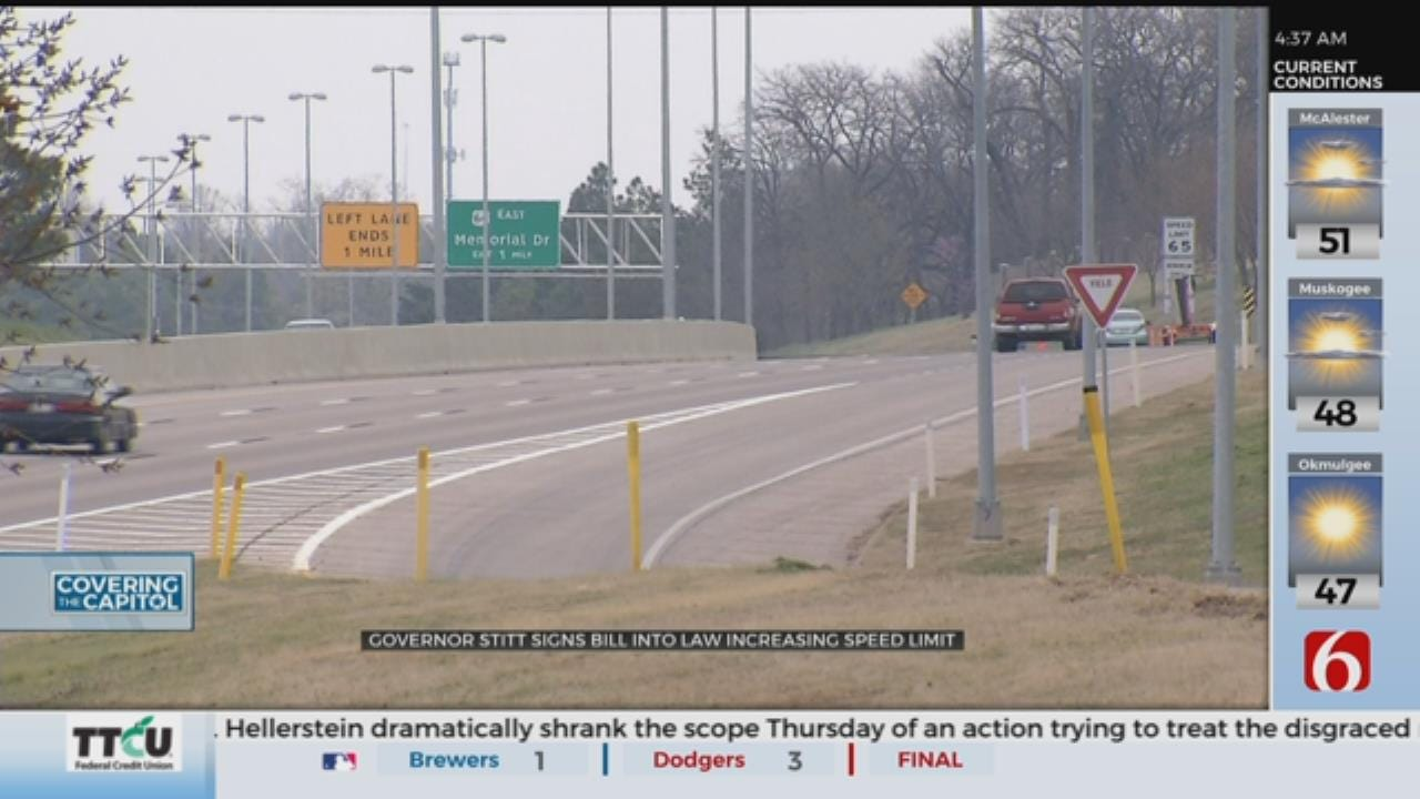 Governor Stitt Signs Bill To Increase Highway Speed Limits