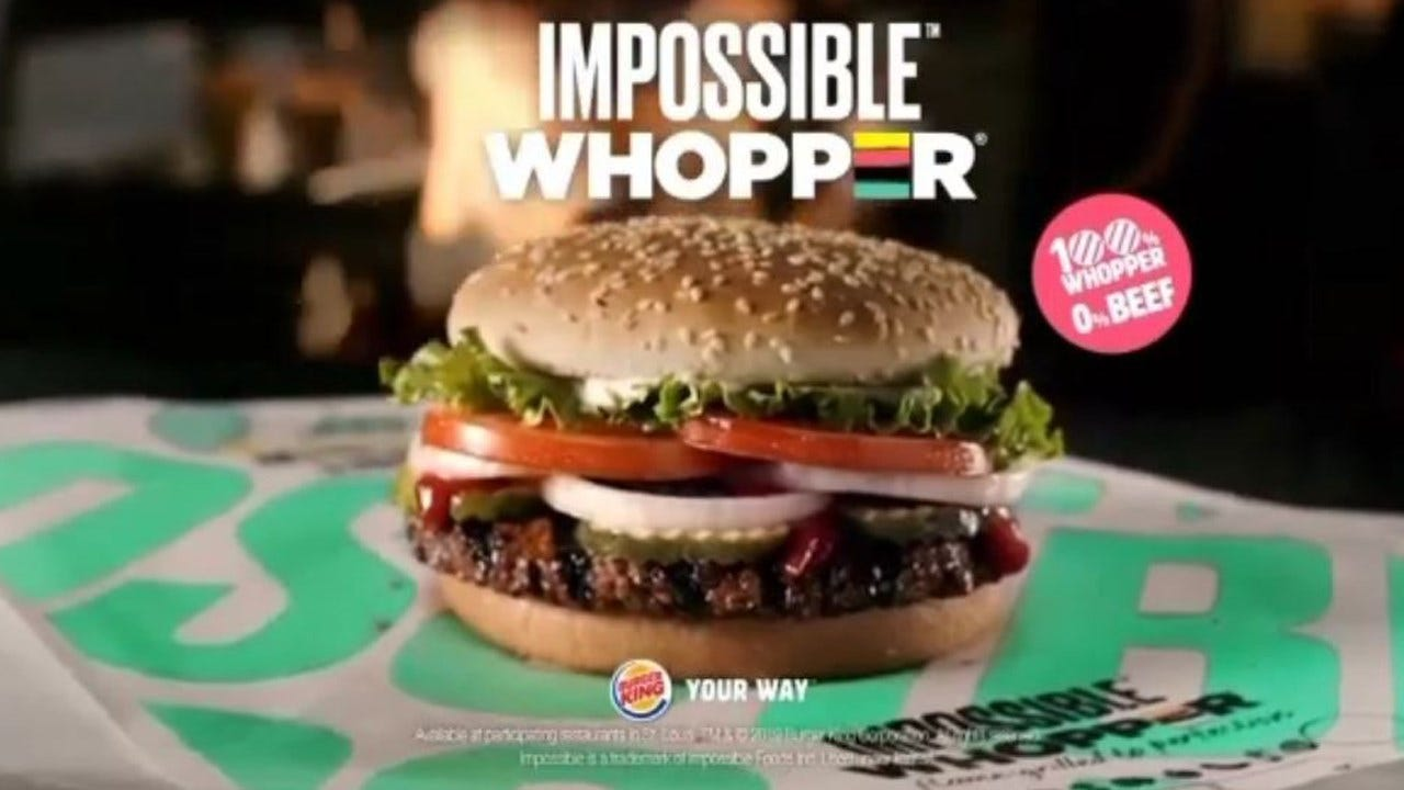Vegan Sues Burger King, Claims Impossible Whoppers 'Contaminated'