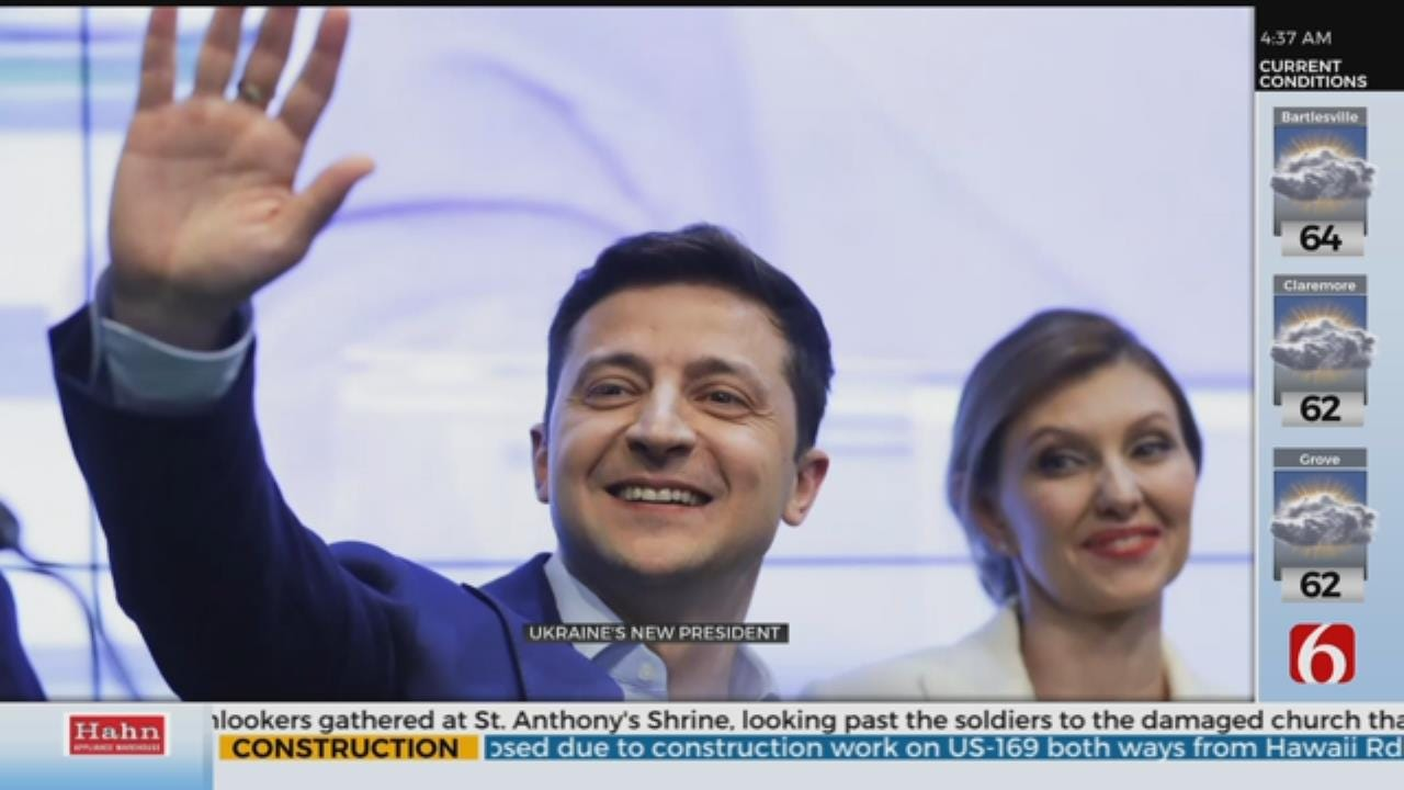 Exit Poll Shows Actor Volodymyr Zelenskiy Sweeping To Victory In Ukrainian Presidential Election