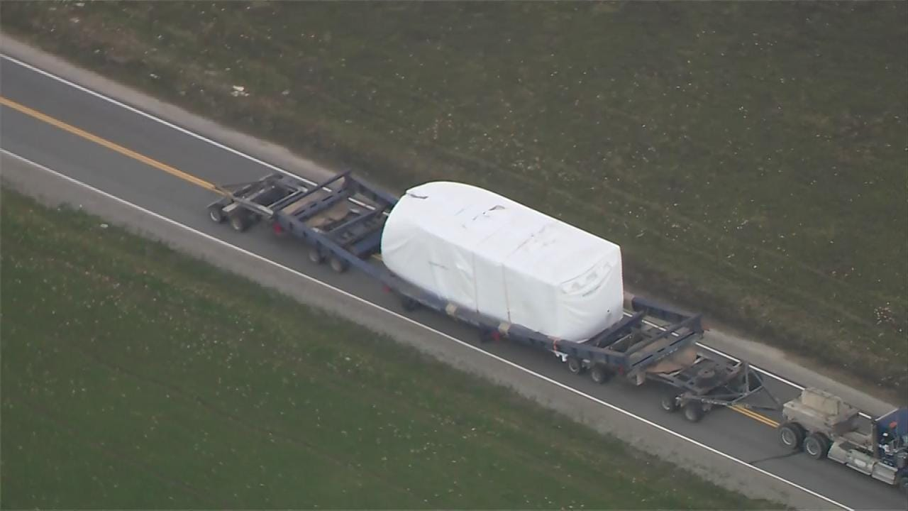 Trailer Carrying Wind Turbine Generator Collapses In Osage County
